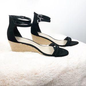 Calvin Klein Callisto Wedge Suede Sandals